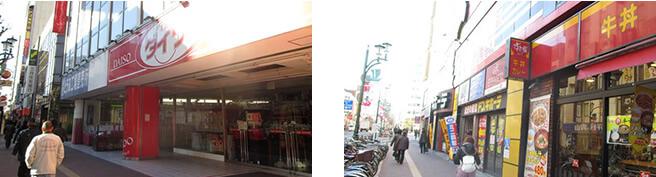 京成船橋駅前の交番を渡りそのまま道なりにまっすぐ