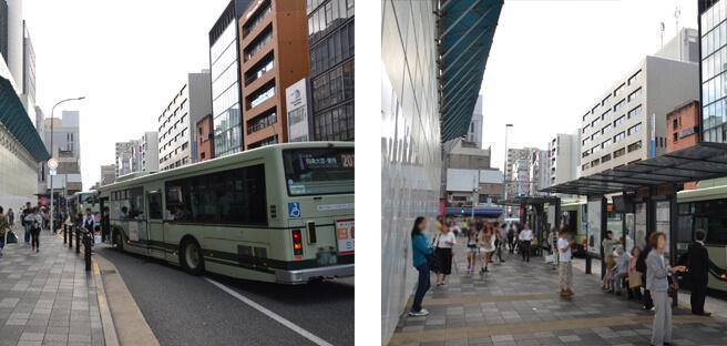 「四条烏丸」のバス停