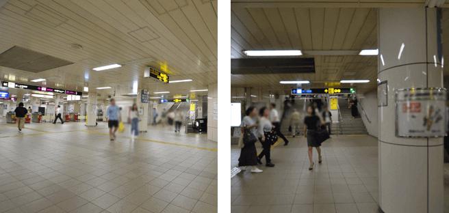 東梅田駅南改札から