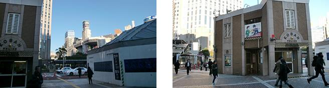 JR横浜駅の中央西口 高島屋と横浜駅西口交番