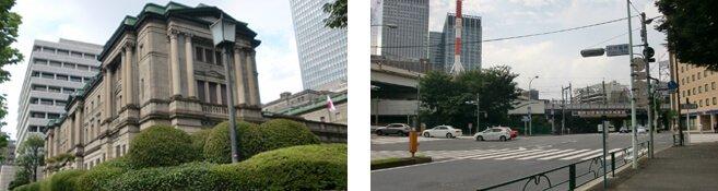 新常盤橋の交差点