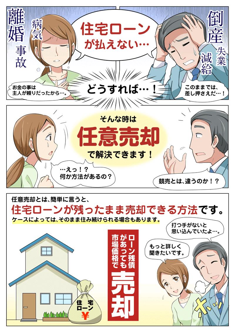 任意売却の解説漫画