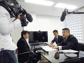 NHKクローズアップ現代取材の様子