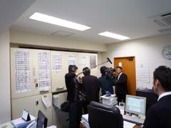 NHK総合「ニュースウォッチ9」取材時写真2