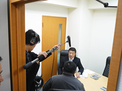 NHK総合「ニュースウォッチ9」取材時写真3