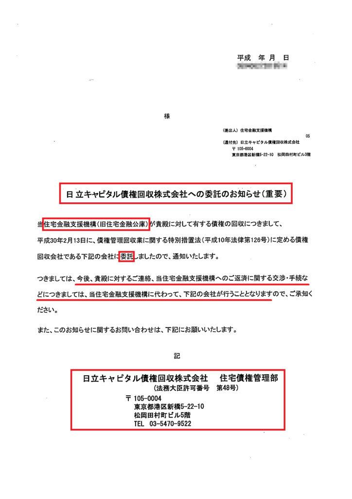 エム・ユー・フロンティア債権回収への委託書類